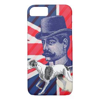 English Gentleman Telephone Booth union jack flag iPhone 7 Case