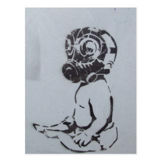 English graffiti postcard