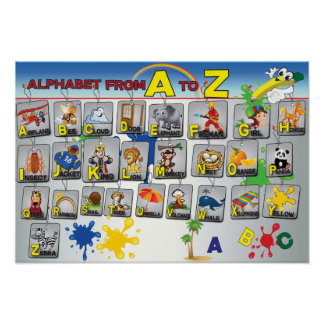 English Grammar Alphabet poster