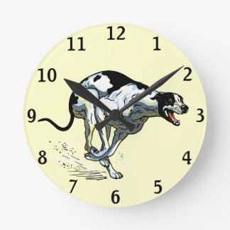 english greyhound round clock