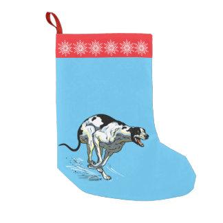 english greyhound small christmas stocking