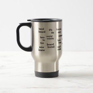 English Homonymns Grammar Funny Words Travel Mug