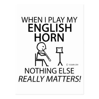 English Horn Nothing Else Matters Postcard
