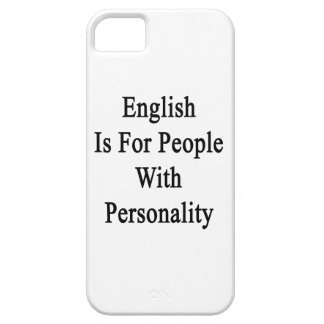English Is For People With Personality iPhone 5 Cases