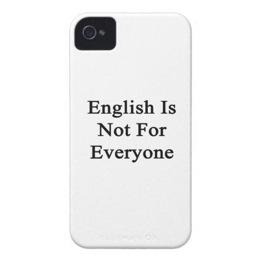 English Is Not For Everyone Blackberry Bold Case