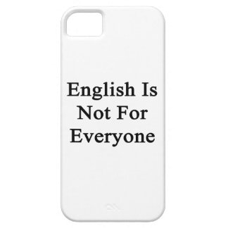 English Is Not For Everyone iPhone 5 Cover