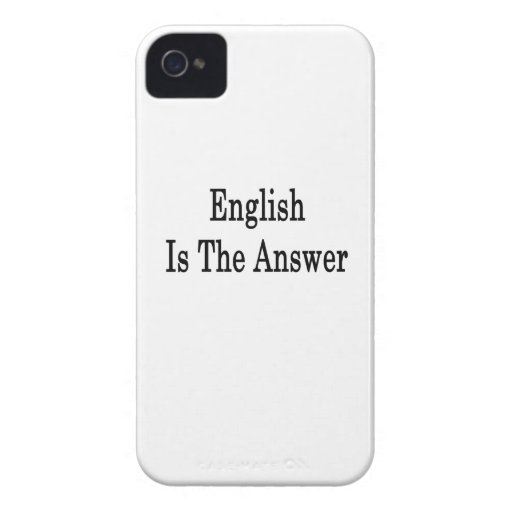 English Is The Answer Case-Mate Blackberry Case