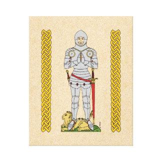 English Knight, Circa 1430 Canvas Print