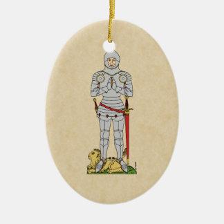 English Knight, Circa 1430 Ceramic Ornament