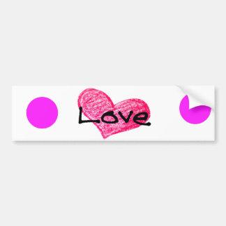 English Language of Love Design Bumper Sticker