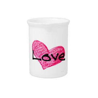 English Language of Love Design Pitcher