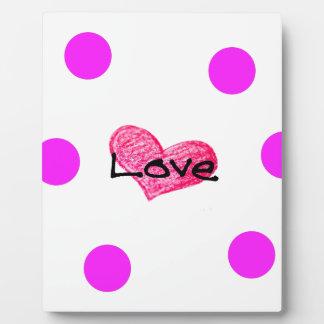 English Language of Love Design Plaque