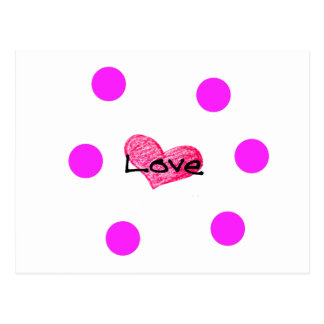 English Language of Love Design Postcard