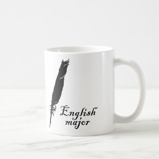English Major and Quill Coffee Mug