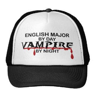 English Major Vampire by Night Mesh Hat