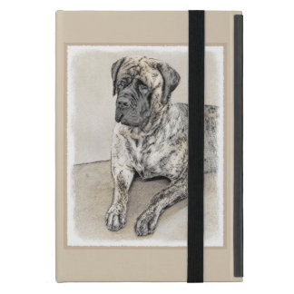 English Mastiff (Brindle) Painting - Original Dog Case For iPad Mini