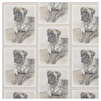 English Mastiff (Brindle) Painting - Original Dog Fabric