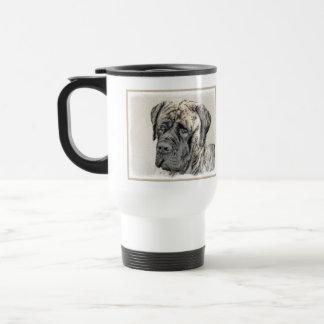 English Mastiff (Brindle) Painting - Original Dog Travel Mug