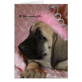 English Mastiff Puppy crowned princess Card
