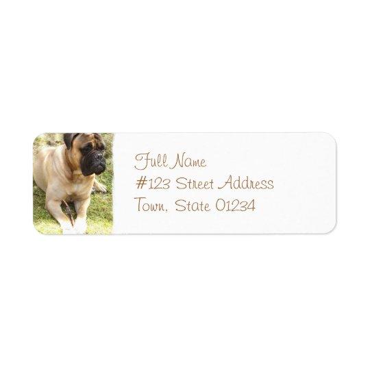 English Mastiff Return Address Label