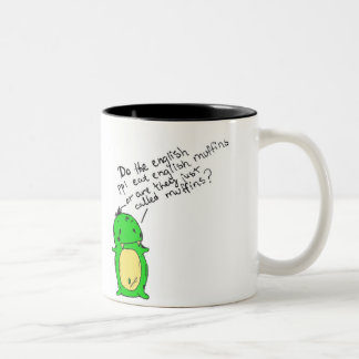 english muffin cup Two-Tone mug