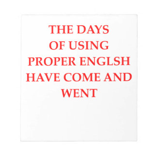 ENGLISH NOTEPAD