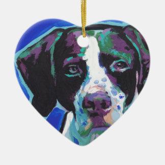 English Pointer Bright Colorful Pop Dog Art Ceramic Ornament