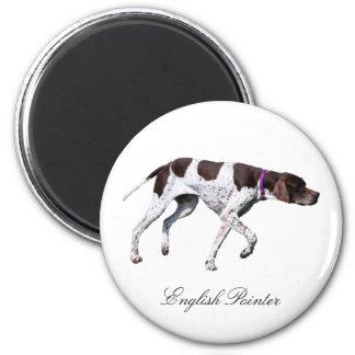English Pointer dog beautiful photo, gift Magnet
