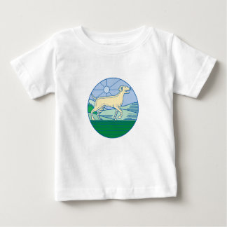 English Pointer Dog Mono Line Baby T-Shirt