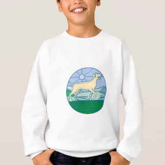 English Pointer Dog Mono Line Sweatshirt