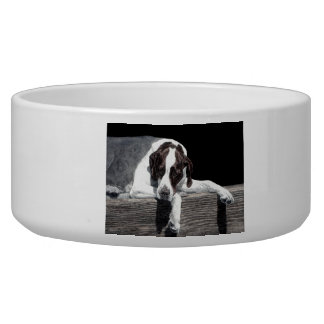 "English Pointer Pet Bowl - ""Sophie"""