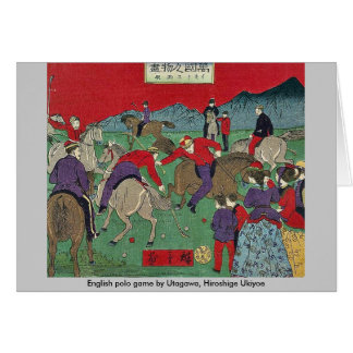 English polo game by Utagawa, Hiroshige Ukiyoe Card
