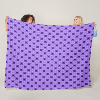 English Purple Velvet Star Pattern Fleece Blanket