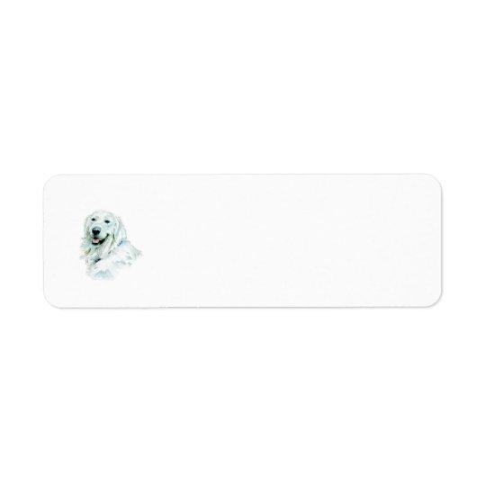English Retriever Return Address Label