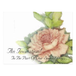 English Rose An Invitation Post Card-Customize Postcard