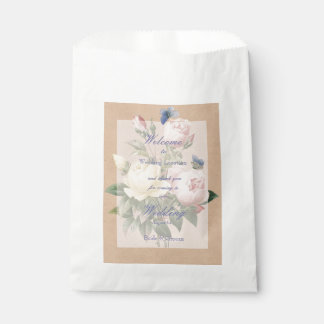 English Rose Butterfly Garden Wedding Favour Bag