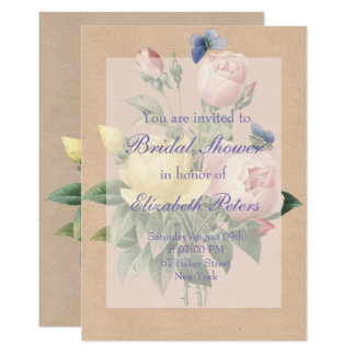 English Rose Garden Wedding Bridal Shower Card