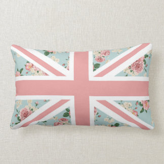 English Roses Union Jack Floral Pattern Cushions