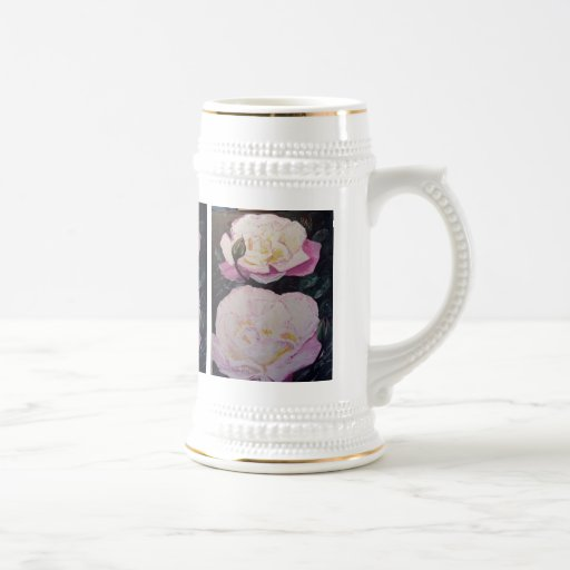 English Roses WaterColor Coffee Mugs