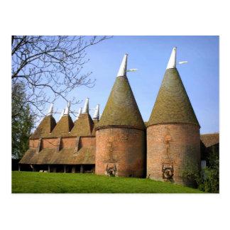 English Scenes, Kentish Oast houses Postcard