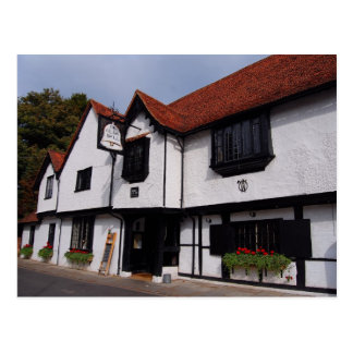 English Scenes, The Old Bell, typical English Inn Postcard