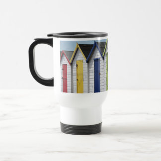 English Seaside Beach Huts Travel Mug