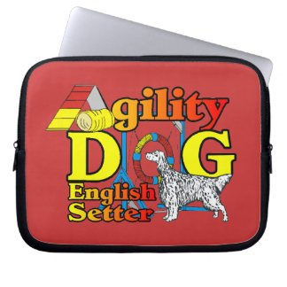 English Setter Agility Computer Sleeves