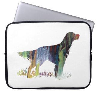 English setter art laptop computer sleeves