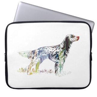 English setter art laptop sleeve