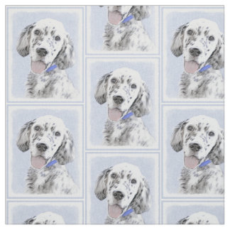 English Setter (Blue Belton) Fabric