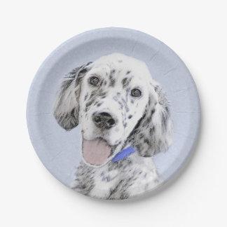 English Setter (Blue Belton) Paper Plate
