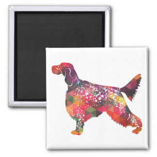 English Setter Dog Geometric Silhouette - Multi Magnet