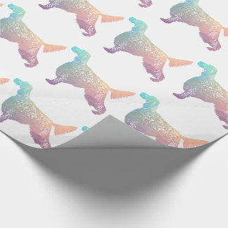English Setter Dog Geometric Silhouette - Pastel Wrapping Paper