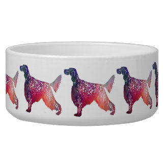 English Setter Dog Geometric Silhouette - Pink